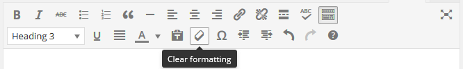 page editor - clear formatting button