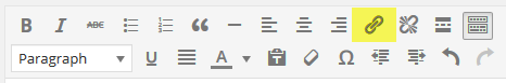 page editor - link button