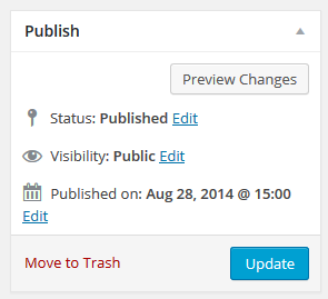 page editor - update button